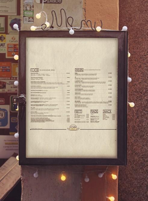 menu da parete jhon